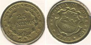 25 Сентимо Коста-Рика Латунь