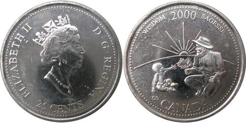 25 Цент Канада Никель Елизавета II (1926-)