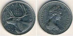 25 Цент Канада Никель/Медь Елизавета II (1926-)