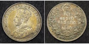 25 Цент Канада Серебро Георг V (1865-1936)