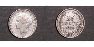 25 Цент Либерия Серебро