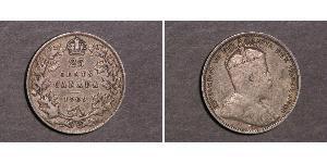 25 Цент Канада Срібло Едвард VII (1841-1910)