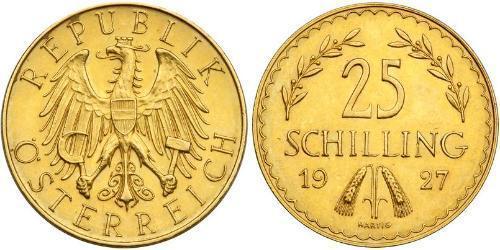 25 Шилінг Перша Австрійська Республіка (1918-1934) Золото