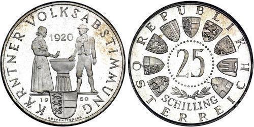 25 Шилінг Австрійська Республіка (1955 - ) Срібло
