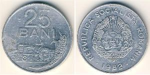 25 Ban Socialist Republic of Romania (1947-1989) Aluminium