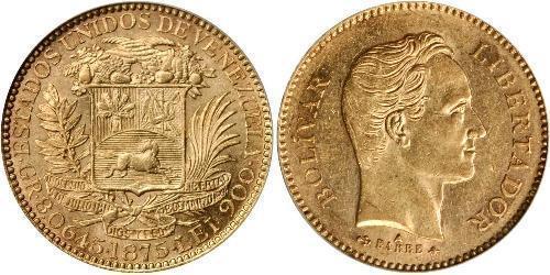 25 Bolivar Venezuela 金 Simon Bolivar (1783 - 1830)