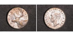 25 Cent 加拿大 銀 乔治五世  (1865-1936)