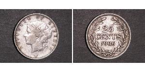 25 Cent Liberia 銀