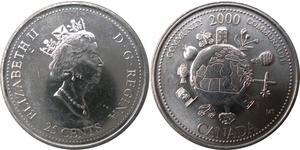 25 Cent 加拿大 镍 伊丽莎白二世 (1926-)