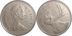 25 Cent 加拿大 銅/镍 伊丽莎白二世 (1926-)