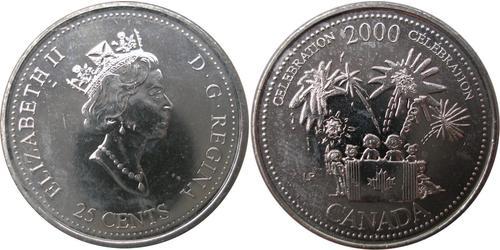 25 Cent Canada Acciaio Elisabetta II (1926-)