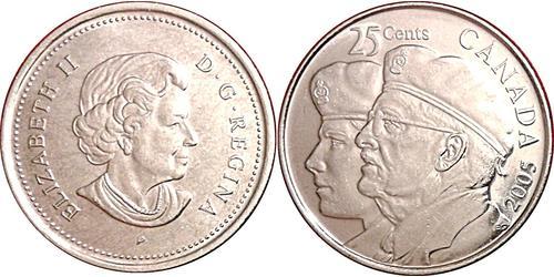 25 Cent Canadá Acero