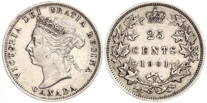 25 Cent Canada Argent Victoria (1819 - 1901)