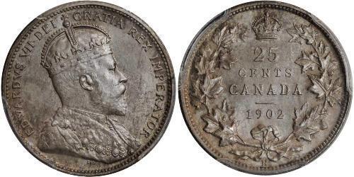 25 Cent Canada Argent Édouard VII (1841-1910)