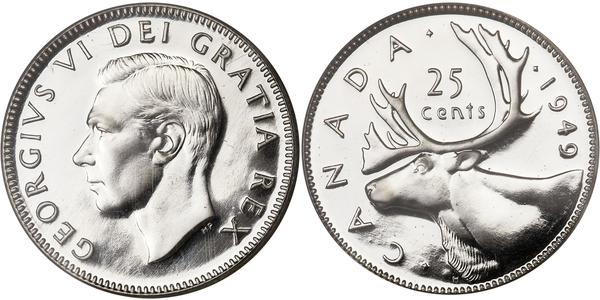 25 Cent Canada Argent George V (1865-1936)