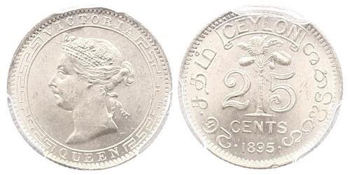 25 Cent Sri Lanka Argent