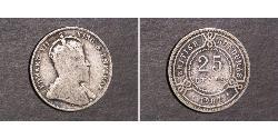 25 Cent British Honduras (1862-1981) Argento Giorgio V (1865-1936)
