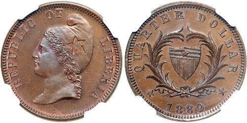 25 Cent Liberia Bronze
