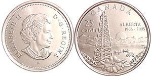 25 Cent Canada Copper Elizabeth II (1926-)