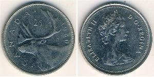 25 Cent Canada Copper/Nickel Elizabeth II (1926-)