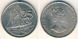 25 Cent Cayman Islands Copper/Nickel