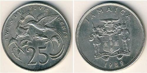 25 Cent Jamaika (1962 - ) Kupfer/Nickel