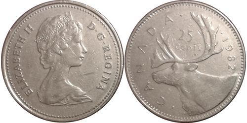 25 Cent Kanada Kupfer/Nickel Elizabeth II (1926-)
