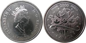 25 Cent Kanada Nickel Elizabeth II (1926-)