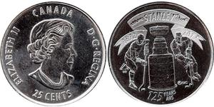 25 Cent Kanada Nickel Elizabeth II (1926-)