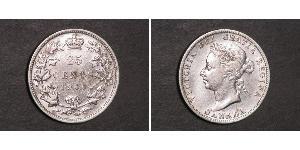 25 Cent Canadá Plata Victoria (1819 - 1901)