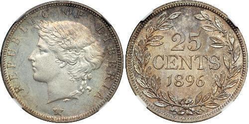 25 Cent Liberia Plata