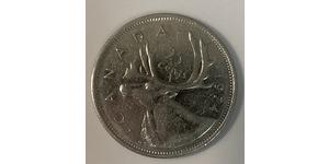 25 Cent Canada Rame/Nichel Elisabetta II (1926-)