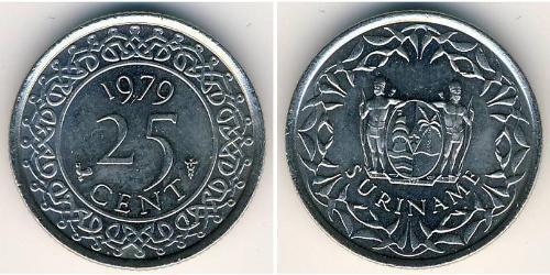 25 Cent Suriname Rame/Nichel