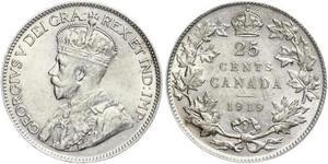25 Cent Kanada Silber George V (1865-1936)