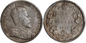 25 Cent Kanada Silber Eduard VII (1841-1910)