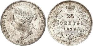 25 Cent Kanada Silber Victoria (1819 - 1901)
