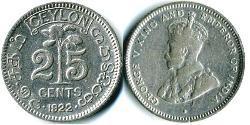 25 Cent Sri Lanka Silber