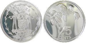 25 Cent Belize (1981 - ) Silver