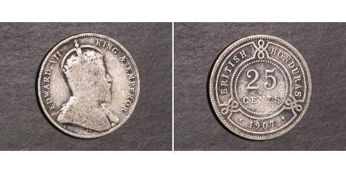 25 Cent British Honduras (1862-1981) Silver George V of the United Kingdom (1865-1936)