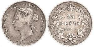 25 Cent Canada Silver Victoria (1819 - 1901)