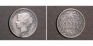 25 Cent Liberia Silver