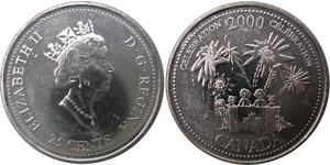 25 Cent Kanada Stahl Elizabeth II (1926-)