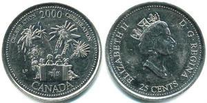 25 Cent Canada Steel Elizabeth II (1926-)