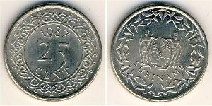 25 Cent Suriname Steel/Nickel
