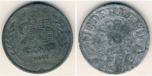 25 Cent Kingdom of the Netherlands (1815 - ) Zinc