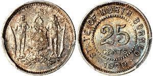 25 Cent Borneo Septentrional (1882-1963)
