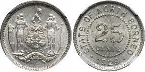 25 Cent Borneo del Nord (1882-1963)