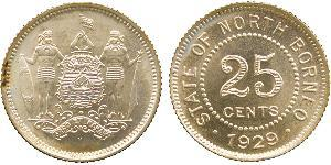 25 Cent North Borneo (1882-1963)
