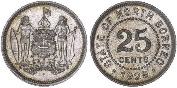 25 Cent North Borneo (1882-1963)