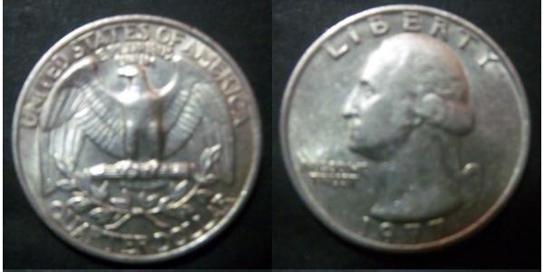 25 Cent / 1/4 Dólar Estados Unidos de América (1776 - ) Cobre/Plata George Washington